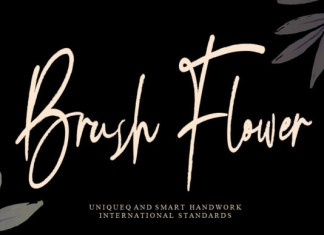 Brush Flower Font