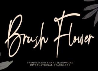 Brush Flower Font
