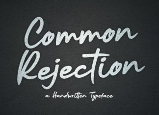 Common Rejection Font