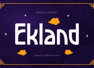 Ekland Font