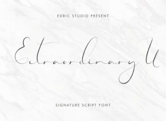 Extraordinary U Font
