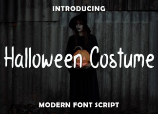 Halloween Costume Font