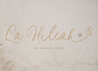 La Hileah Font