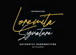 Loremita Signature Font