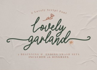 Lovely Garland Font