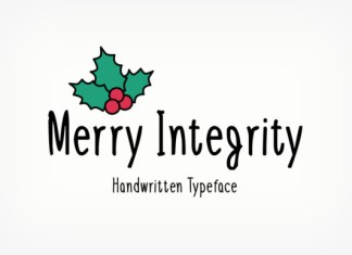 Merry Integrity Font