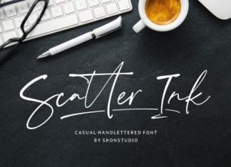 Scatter Ink Font
