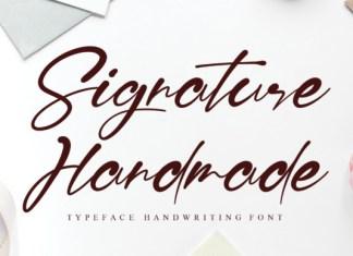 Signature Handmade Font