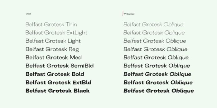 Belfast Grotesk Font