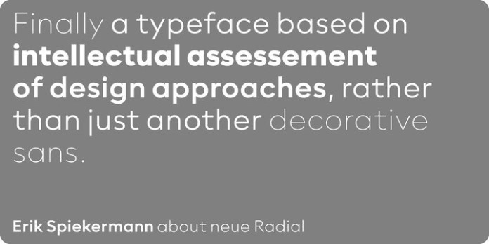 Neue Radial Font