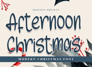 Afternoon Christmas Font
