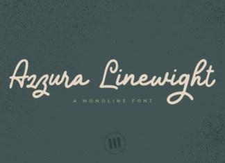 Azzura Lineweight Font