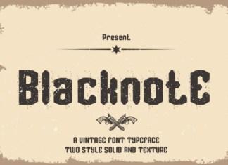 Blacknote Font