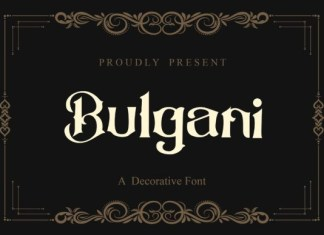 Bulgani Font