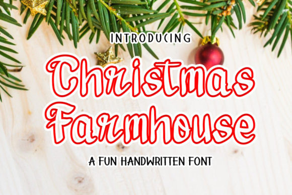 Christmas Farmhouse Font