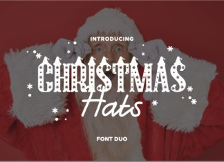 Christmas Hat Font