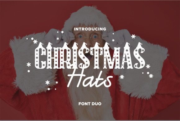 Christmas Hat Font