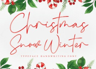 Christmas Snow Winter Font