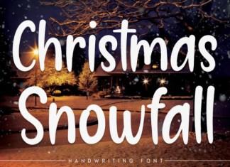 Christmas Snowfall Font