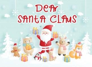 Dear Santa Claus Font