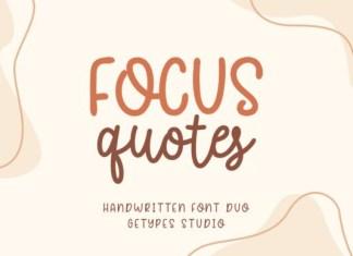Focus Quotes Duo Font