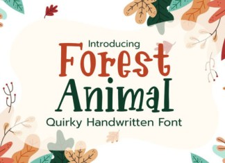 Forest Animal Font