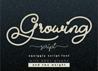 Growing Font