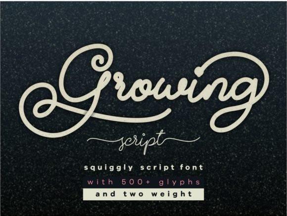 Growing Font