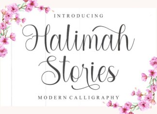 Halimah Stories Font