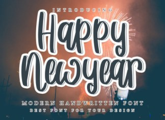 Happy New Year Font