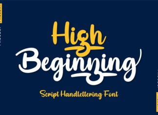 High Beginning Font