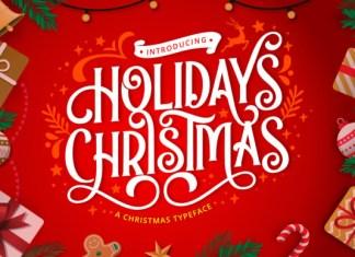 Holidays Christmas Font