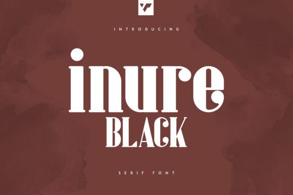 Inure Black Font