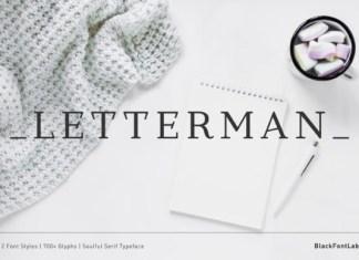 Letterman Font