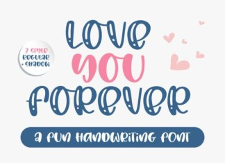 Love You Forever Font