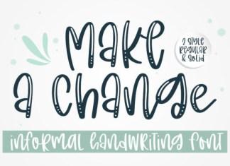 Make a Change Font
