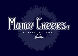 Manly Cheeks Font