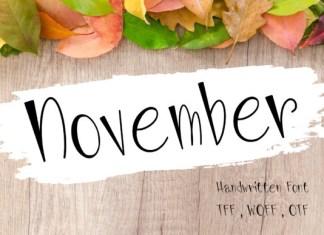 November Font