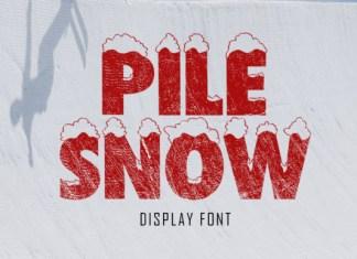 Pile Snow Font