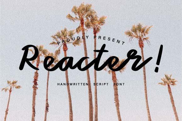 Reacter Font