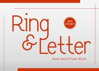Ring & Letter Font