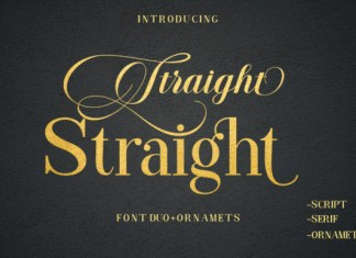 Straight Font