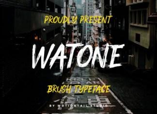 Watone Font