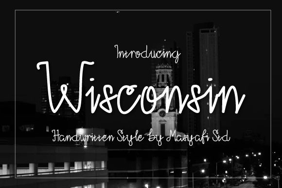 Wisconsin Font