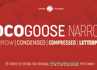 Cocogoose Narrows Font