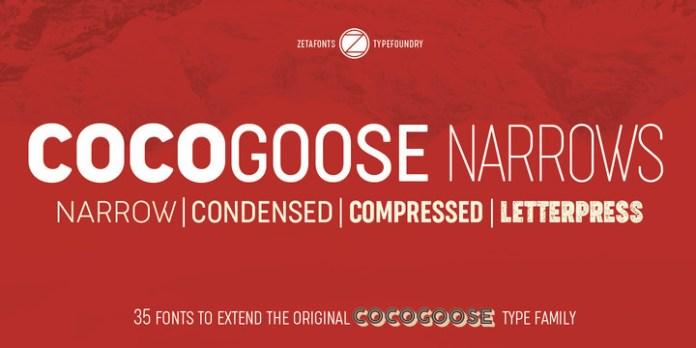 Cocogoose Narrows Font
