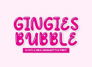 Gingies Bubble ,Font
