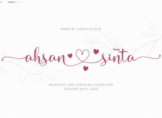 Ahsan Sinta Font