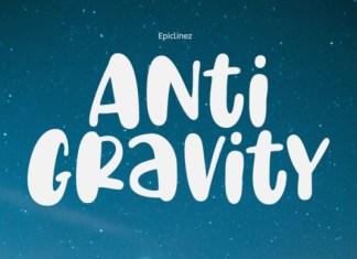 Anti Gravity Font