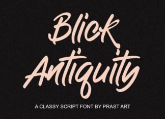 Antiquity Blick Font